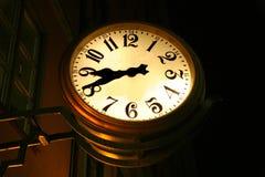 Vecchio orologio all'aperto Fotografie Stock Libere da Diritti