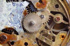 Vecchio orologio arrugginito Fotografia Stock Libera da Diritti