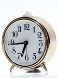 Vecchio orologio bianco Fotografie Stock