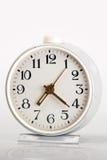 Vecchio orologio bianco Fotografia Stock