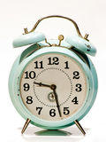 Vecchio orologio blu Fotografie Stock