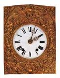 Vecchio orologio con i numeri romani Immagine Stock