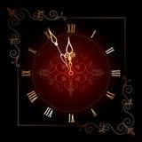 Vecchio orologio con i numeri romani Immagini Stock