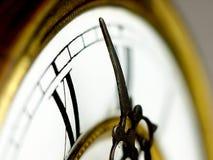 Vecchio orologio con i numeri romani Fotografia Stock Libera da Diritti