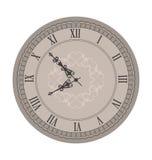 Vecchio orologio con le frecce di scenetta Fotografia Stock