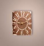 Vecchio orologio d'annata con la mostra del tempo del preicse Immagini Stock