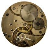 Vecchio orologio da tasca meccanico del movimento a orologeria Immagini Stock Libere da Diritti