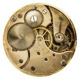 Vecchio orologio da tasca meccanico del movimento a orologeria Fotografia Stock Libera da Diritti