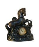 Vecchio orologio del caminetto Fotografia Stock