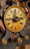 Vecchio orologio del grunge Immagini Stock