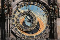 Vecchio orologio del municipio Immagine Stock Libera da Diritti