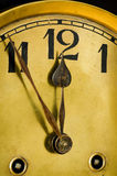 Vecchio orologio del quadrante Fotografie Stock