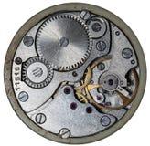 Vecchio orologio dell'URSS del movimento a orologeria, sveglia Fotografia Stock
