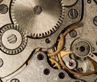 Vecchio orologio dell'URSS del movimento a orologeria, sveglia Immagini Stock Libere da Diritti