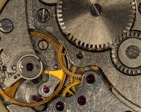 Vecchio orologio dell'URSS del movimento a orologeria, sveglia Immagine Stock
