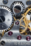 Vecchio orologio dell'URSS del movimento a orologeria, sveglia Fotografie Stock Libere da Diritti