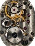 Vecchio orologio dell'URSS del movimento a orologeria, sveglia Immagini Stock
