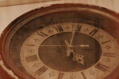 Vecchio orologio della retro foto Fotografia Stock