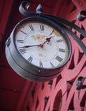 Vecchio orologio della stazione Fotografia Stock