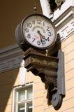 Vecchio orologio della via Fotografia Stock