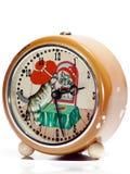 Vecchio orologio di Brown Fotografie Stock Libere da Diritti