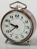 Vecchio orologio di Brown Fotografia Stock