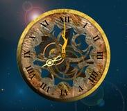 Vecchio orologio con i numeri romani. Fotografie Stock