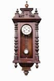 Vecchio orologio di legno Fotografia Stock Libera da Diritti
