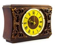 Vecchio orologio di legno Fotografia Stock