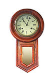 Vecchio orologio di legno Immagini Stock