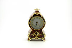 Vecchio orologio di legno di lusso Fotografia Stock Libera da Diritti