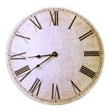 Vecchio orologio di parete antico Fotografie Stock Libere da Diritti