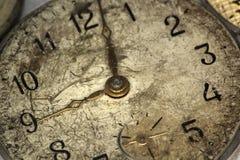 Vecchio orologio di parete antico Fotografia Stock Libera da Diritti