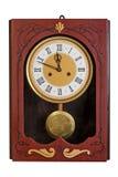 Vecchio orologio di pendolo della parete Immagine Stock