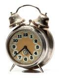 Vecchio orologio di Siver Immagini Stock