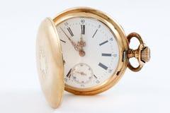 Vecchio orologio dorato Fotografia Stock Libera da Diritti