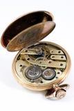 Vecchio orologio dorato Fotografie Stock Libere da Diritti