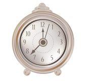 Vecchio orologio isolato Fotografia Stock Libera da Diritti