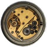 Vecchio orologio meccanico del movimento a orologeria Fotografia Stock