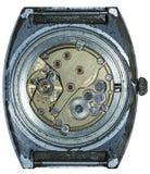 Vecchio orologio meccanico del movimento a orologeria Immagine Stock Libera da Diritti