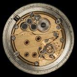 Vecchio orologio meccanico del movimento a orologeria Fotografie Stock Libere da Diritti
