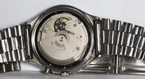 Vecchio orologio meccanico del movimento a orologeria Fotografie Stock