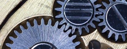Vecchio orologio meccanico del movimento a orologeria Immagini Stock Libere da Diritti