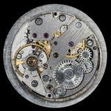 Vecchio orologio meccanico del movimento a orologeria Immagini Stock