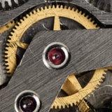 Vecchio orologio meccanico del movimento a orologeria Fotografia Stock Libera da Diritti