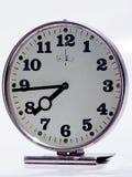 Vecchio orologio metallico Fotografia Stock
