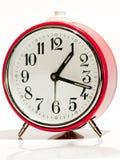 Vecchio orologio rosso Immagine Stock