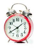 Vecchio orologio rosso Immagine Stock Libera da Diritti