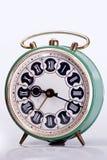 Vecchio orologio verde Fotografia Stock Libera da Diritti