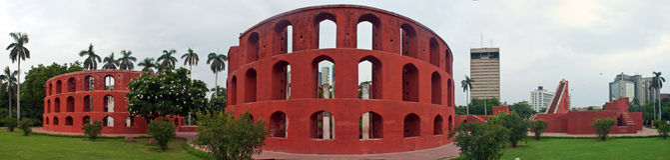 Vecchio osservatorio astronomico Jantar Mantar Fotografia Stock